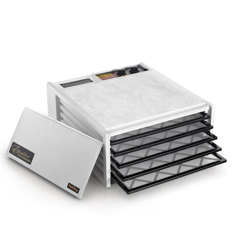 d shydrateur excalibur 5 plateaux d shydrateur alimentaire avec minuteur blanc nature et. Black Bedroom Furniture Sets. Home Design Ideas
