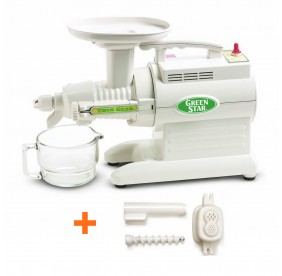 Promo-Pack ! Pack Extracteur de jus Greenstar GS3000 - Tribest (Extracteur de jus Greenstar GS1000 + kit à pâtes