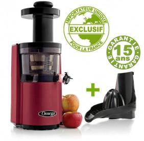 Promo Pack Extracteur Omega VSJ843 Rouge avec Kit presse-agrumes