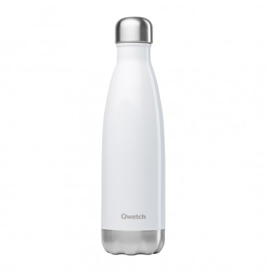 Bouteille isotherme Qwetch - Blanc brillant - 500 ml
