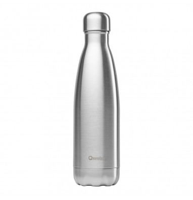 Bouteille isotherme Qwetch - Inox brossé - 500 ml