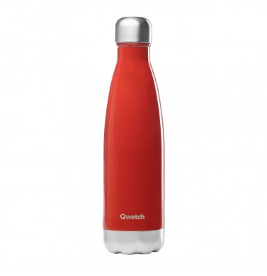 Bouteille isotherme Qwetch - Rouge brillant - 500 ml