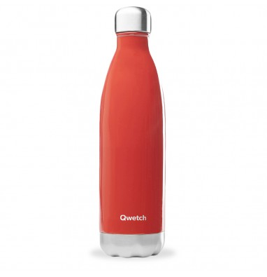 Bouteille isotherme Qwetch - Rouge brillant - 750 ml