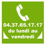 Contactez-nous du lundi au vendredi au 04 37 65 17 17